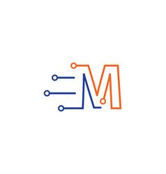 Circuit technology logo vector