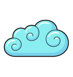 cloud icon light blue sky environment and vector image