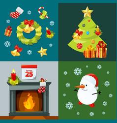 conceptual pictures christmas celebration vector image
