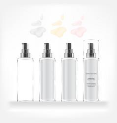 cosmetic bottle transparent bottle vector image