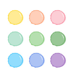 Cute pastel colors macaron french confection vector