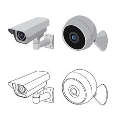 Design cctv and camera logo collection vector