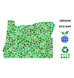 Eco green composition oregon state map vector
