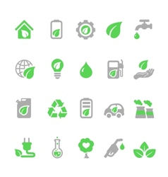 Ecology icons set Green energy vector image