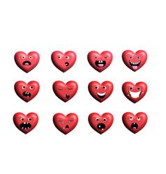 Emoticon heart vector