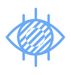 eyesight logotype ophthalmology label eye vector image