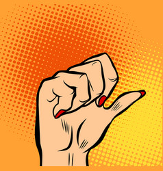 Female fist and thumb vector