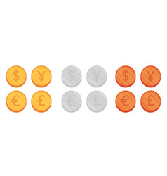flat coin set vector image