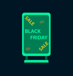 flat icon of signboard black friday vector image