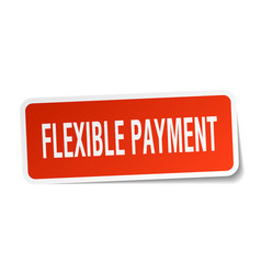 Flexible payment square sticker on white vector