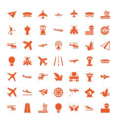 flight icons vector image