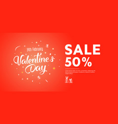 flyer with text happy valentines day vector image