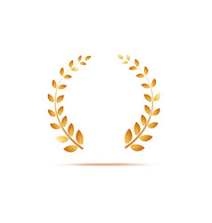 golden laurel venox leaves award and insignia of vector image