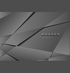 Gray metallic geometric background vector