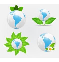 Green eco planet concept vector