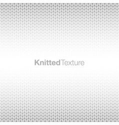 grey knitted background vector image