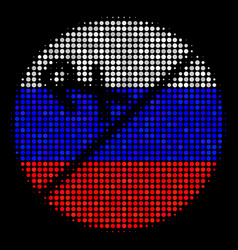 Halftone russian pharmacy tablet icon vector