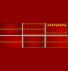 happy new year background design for chinese new vector image