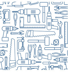 hardware tool set linear seamless pattern vector image