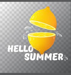 Hello summer beach party flyer design vector