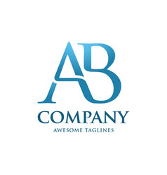 letters ab logo colorful vector image