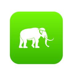 mammoth icon green vector image