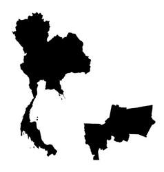Map thailand and bangkok country and capital vector