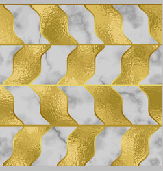 marble luxury seamless pattern with golden foil vector image