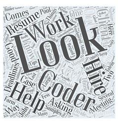 Meeting your freelancing deadlines word cloud vector