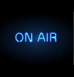 On air broadcast radio neon sign vector