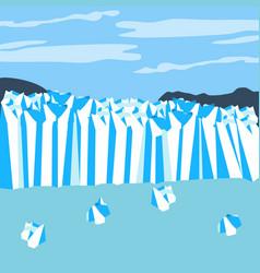 Perito moreno glacier vector