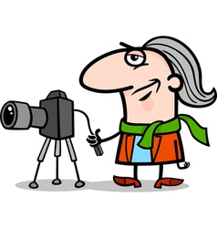 Photographer artist cartoon vector
