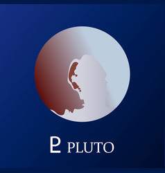 planet pluto in flat style vector image