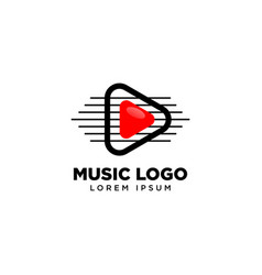 Play music video media player app button icon vector