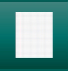 realistic paper note on green background vector image