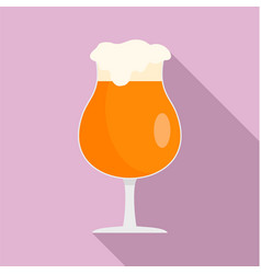 round glass of beer icon flat style vector image