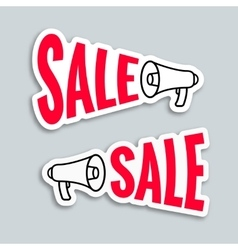 Sale megaphone sticker design vector