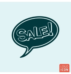 Sale speech bubble vector