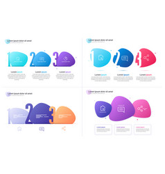 set infographic templates composed of vector image