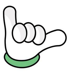 shaka hand vector image