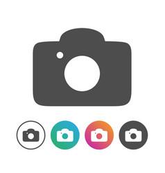 simple camera icon symbol design set vector image