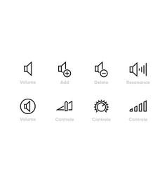 speaker control icon editable line vector image