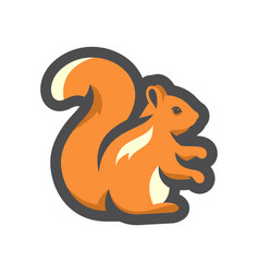 squirrel forest rodent icon cartoon vector image
