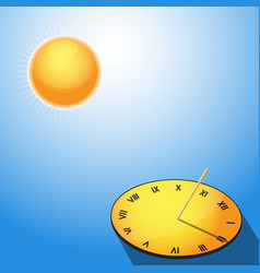 Sun and sundial vector image