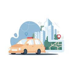 Taxi service online app vector