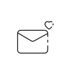 Thin line envelope icon vector
