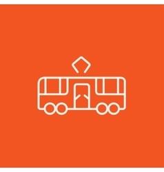 Tram line icon vector