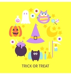 Trick or Treat Trendy Poster vector