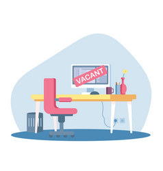 Vacant place for system administrator advertising vector