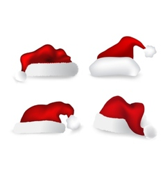 Various Christmas caps set vector image
